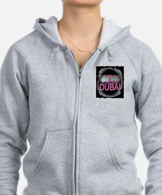 dubai art illustration Zip Hoodie