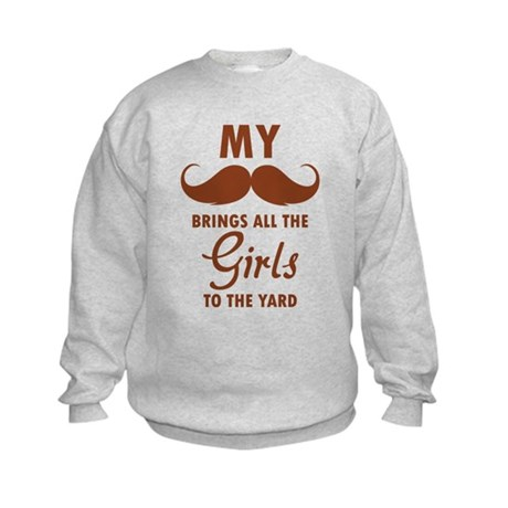 My moustache brings all the girls to the yard Kids