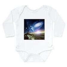 Colliding galaxies, artwork - Long Sleeve Infant B