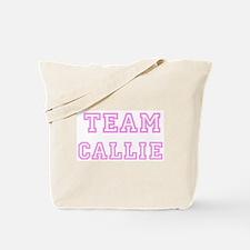 Pink team Callie Tote Bag