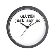 GLUTEN just say no Wall Clock