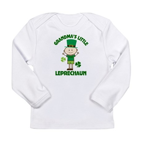 Grandma's Little Leprechaun Long Sleeve Infant T-S