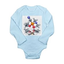 Tabun nerve agent molecule - Long Sleeve Infant Bo