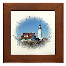 Cute Lighthouses Framed Tile