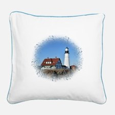 Cute Lighthouse Square Canvas Pillow