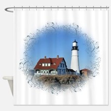 Cute Lighthouse Shower Curtain