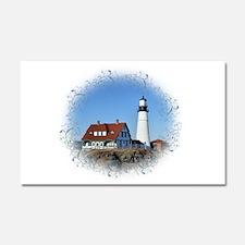 Cute Lighthouse Car Magnet 20 x 12