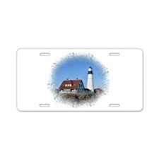 Cute Lighthouse Aluminum License Plate