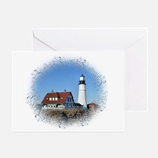Portland Headlight Greeting Cards