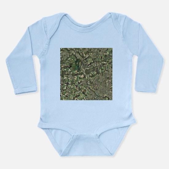 Cardiff, aerial photograph - Long Sleeve Infant Bo