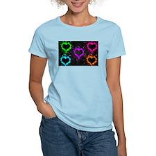 Neon Heart Splatter T-Shirt