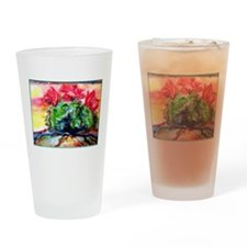 Cactus! Colorful desert art! Drinking Glass
