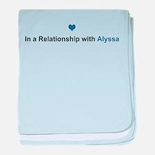 Alyssa Relationship baby blanket