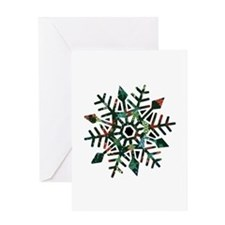 Dark Snowflake Greeting Card