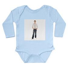 Healthy man - Long Sleeve Infant Bodysuit