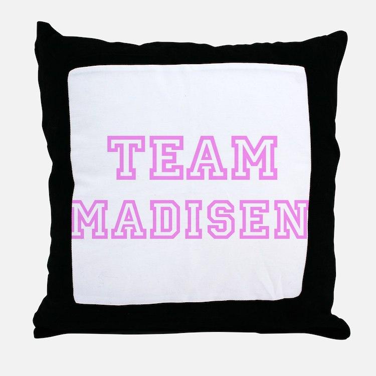 Pink team Madisen Throw Pillow