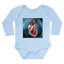 Human heart, artwork - Long Sleeve Infant Bodysuit