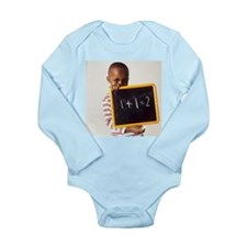 Learning arithmetic - Long Sleeve Infant Bodysuit