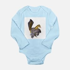 Microraptor dinosaur - Long Sleeve Infant Bodysuit