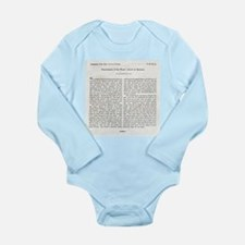 Punishment of Slaves text - Long Sleeve Infant Bod