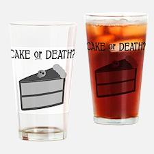 Cute Goth skull Drinking Glass