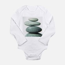 Stacked pebbles - Long Sleeve Infant Bodysuit