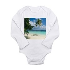 Tropical beach - Long Sleeve Infant Bodysuit