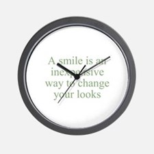 A smile is an inexpensive way Wall Clock
