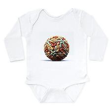 Dengue virus particle - Long Sleeve Infant Bodysui