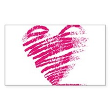 Grungy heart drawing Decal
