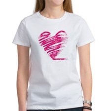 Grungy heart drawing Tee