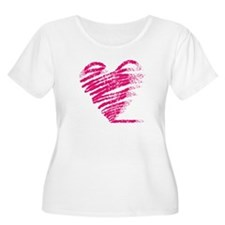 Grungy heart drawing T-Shirt