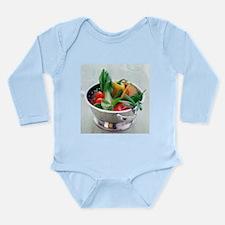 Fruit and vegetables - Long Sleeve Infant Bodysuit