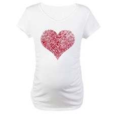 Red heart with fingerprint pattern Shirt
