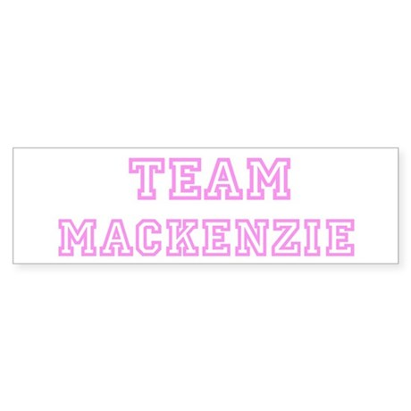 Pink team Mackenzie Bumper Sticker