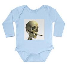Smoking skeleton - Long Sleeve Infant Bodysuit