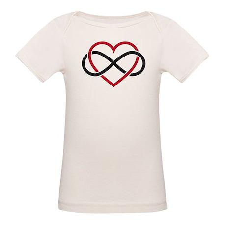 Infinity heart, never ending love Organic Baby T-S