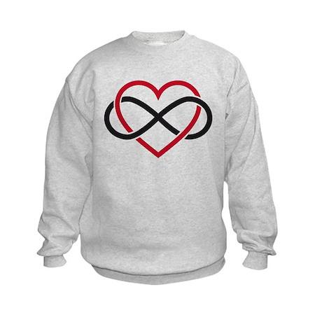 Infinity heart, never ending love Kids Sweatshirt