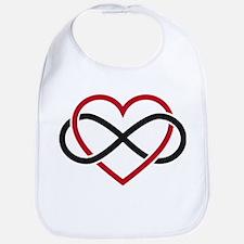Infinity heart, never ending love Bib