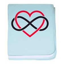 Infinity heart, never ending love baby blanket