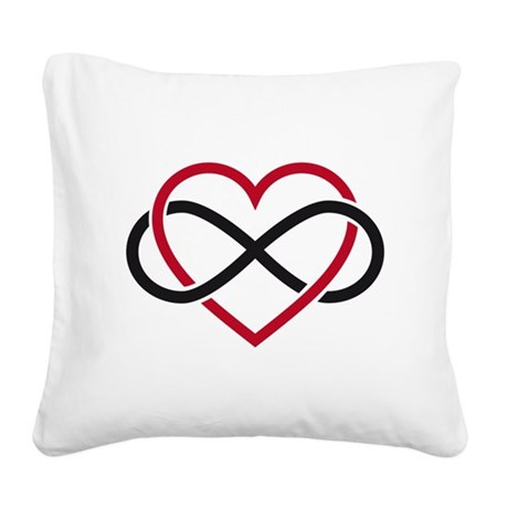 Infinity heart, never ending love Square Canvas Pi