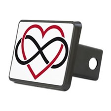 Infinity heart, never ending love Hitch Cover