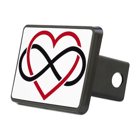 Infinity heart, never ending love Rectangular Hitc