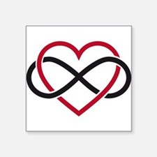 Infinity heart, never ending love Square Sticker 3