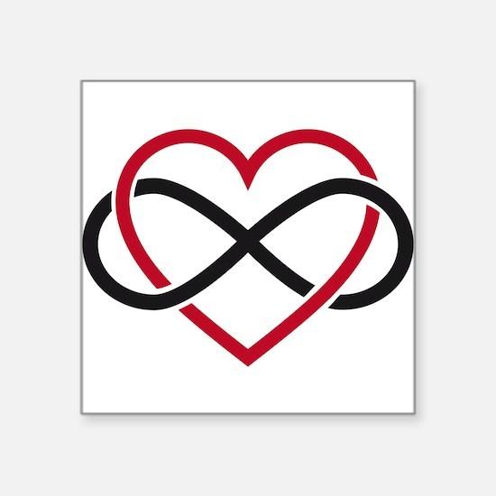 Infinity heart, never ending love Square Sticker 3