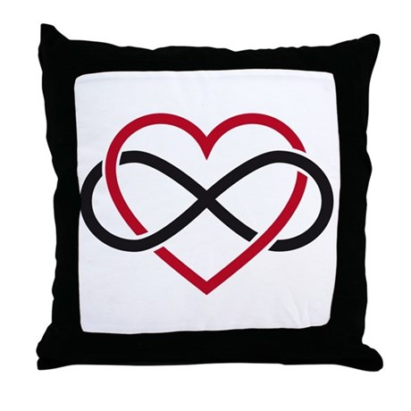 Infinity heart, never ending love Throw Pillow