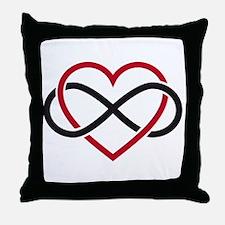 Infinity heart, never ending love Throw Pillow
