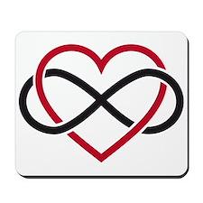 Infinity heart, never ending love Mousepad