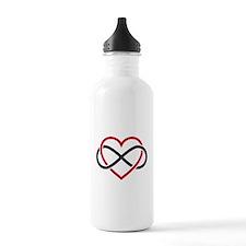Infinity heart, never ending love Water Bottle