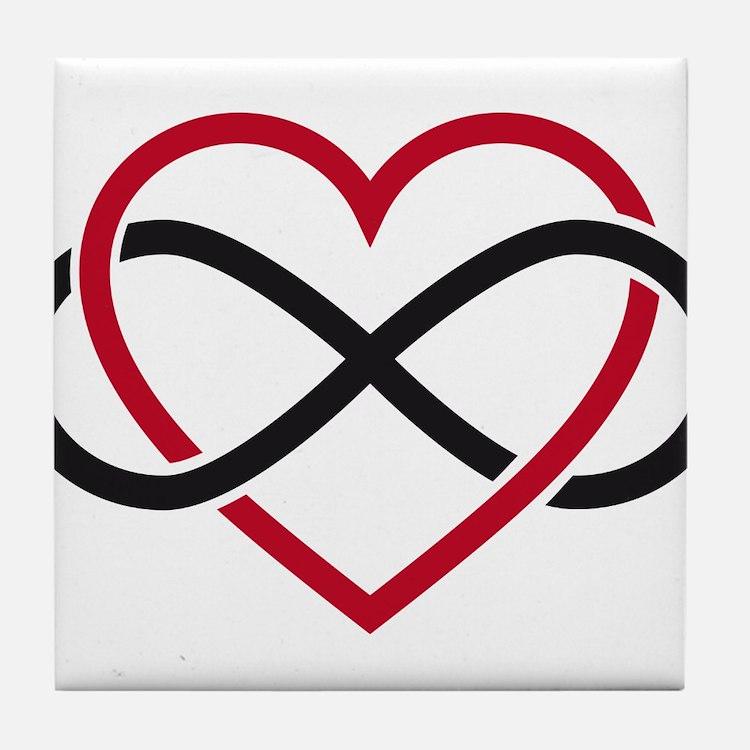Infinity heart, never ending love Tile Coaster